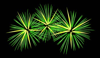 fireworks-triple-green