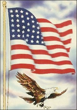 Free Flag And Eagle Clipart Free Clipart Graphics