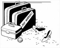 just-married-luggage