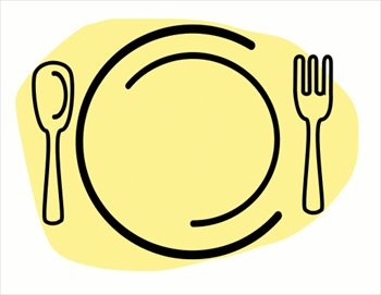 Free dinner-plate-with-spoon-and-fork Clipart - Free Clipart Graphics ...