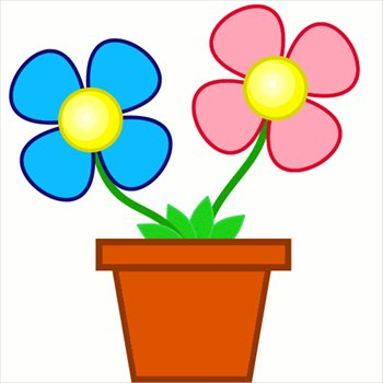 Clip Art Flower Clip Art Free free flowers clipart graphics images and photos bright in planter
