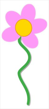 Free flower-pink-w-stem Clipart - Free Clipart Graphics ...