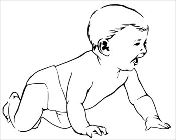 Free happy-crawling-baby Clipart - Free Clipart Graphics, Images and ...