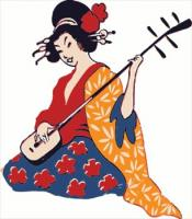 geisha-playing-shamisen