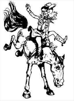 cowgirl on bronco