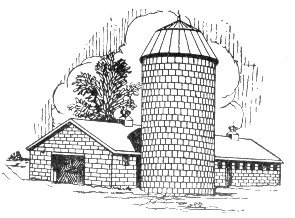 free barn and silo clipart free clipart graphics images