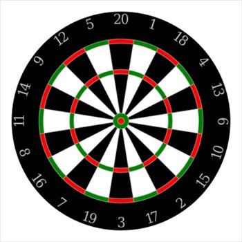 free dartboard clipart - free clipart graphics, images and photos