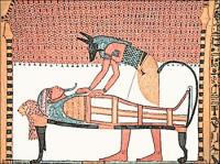 Anubis-attending-the-mummy-of-Sennedjem
