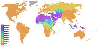 Islam-percentage-by-country