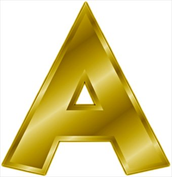 A Free gold-letter-A Clipart - Free Clipart Graphics, Images and Photos ...