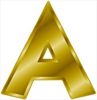 gold-letter-A