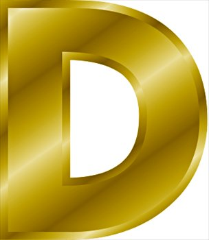 Free gold-letter-D Clipart - Free Clipart Graphics, Images ...