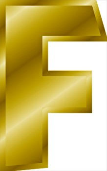Free gold-letter-F Clipart - Free Clipart Graphics, Images and Photos ...