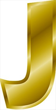 Free gold-letter-J Clipart - Free Clipart Graphics, Images and Photos ...
