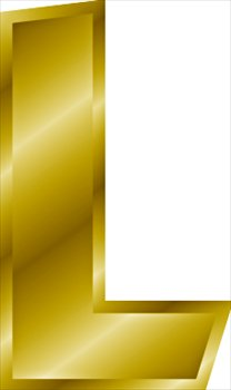 Free Gold Letter L Clipart Free Clipart Graphics Images