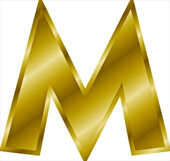 Free Gold Letter M Clipart Free Clipart Graphics Images