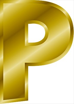 Free gold-letter-P Clipart - Free Clipart Graphics, Images and Photos ...