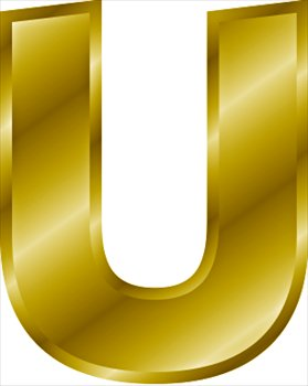 Free gold-letter-U Clipart - Free Clipart Graphics, Images and Photos ...