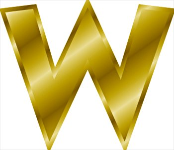 Free gold-letter-W Clipart - Free Clipart Graphics, Images and Photos ...