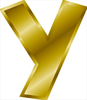 y letter in gold - photo #1