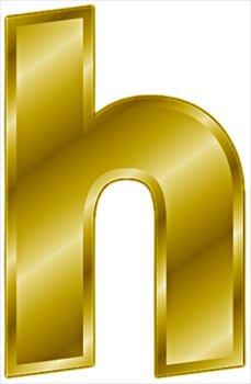 Free Gold Letter H Clipart Free Clipart Graphics