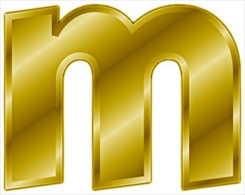 Free gold-letter-m- Clipart - Free Clipart Graphics, Images and ...