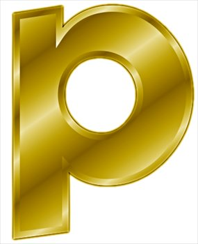 Free gold-letter-p- Clipart - Free Clipart Graphics, Images and Photos ...