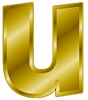 Free gold-letter-u- Clipart - Free Clipart Graphics ...