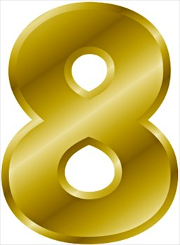Free gold-number-8 Clipart - Free Clipart Graphics, Images and ...