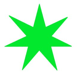Free 7 Pointed Star Green Clipart Free Clipart Graphics