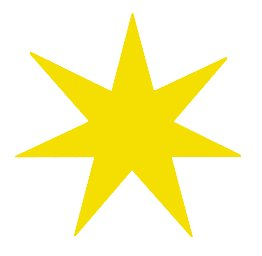 7-pointed-star-yellow