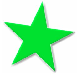 Free basic-5-point-green-star-beveled Clipart - Free ...
