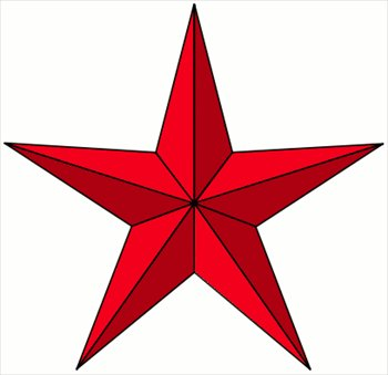 Clip Art Star Clipart Free free stars clipart graphics images and photos red pointy star