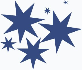 blue star clusters clip art - photo #36