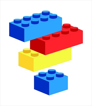 a stack of multicolored legos