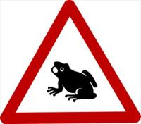 sign-caution-frog