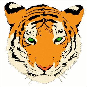 free tiger-head clipart - free clipart graphics, images and photos